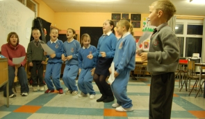 Shanty singing classes at Cobh Youth Services 2006