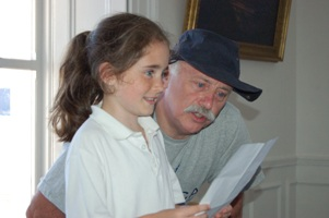 Pat Sheridan with a young shanty singer, Cobh 2006