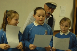 Young Shanty pupils with Pat Sheridan, Cobh 2006